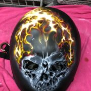 ヘルメット エアブラシ 塗装