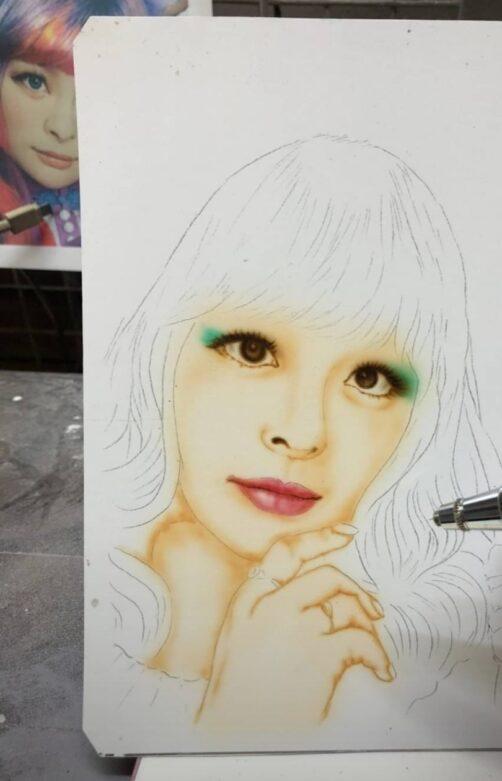 きゃりーぱみゅぱみゅエアブラシ 塗装・カスタムペイント・エアブラシetc..